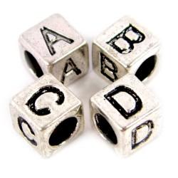 """Бусины буквы от """"A"""" до """"Z"""" стальные"""