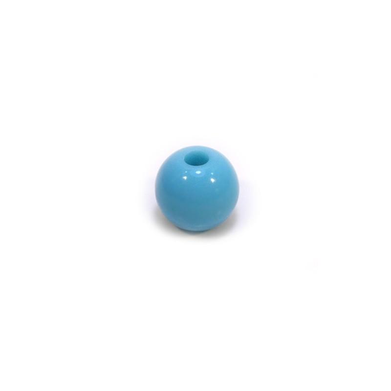 Акриловая бусина, 10мм, голубая