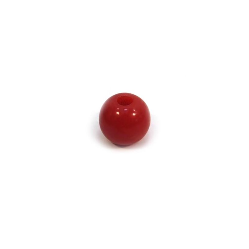 Акриловая бусина, 10мм, красная