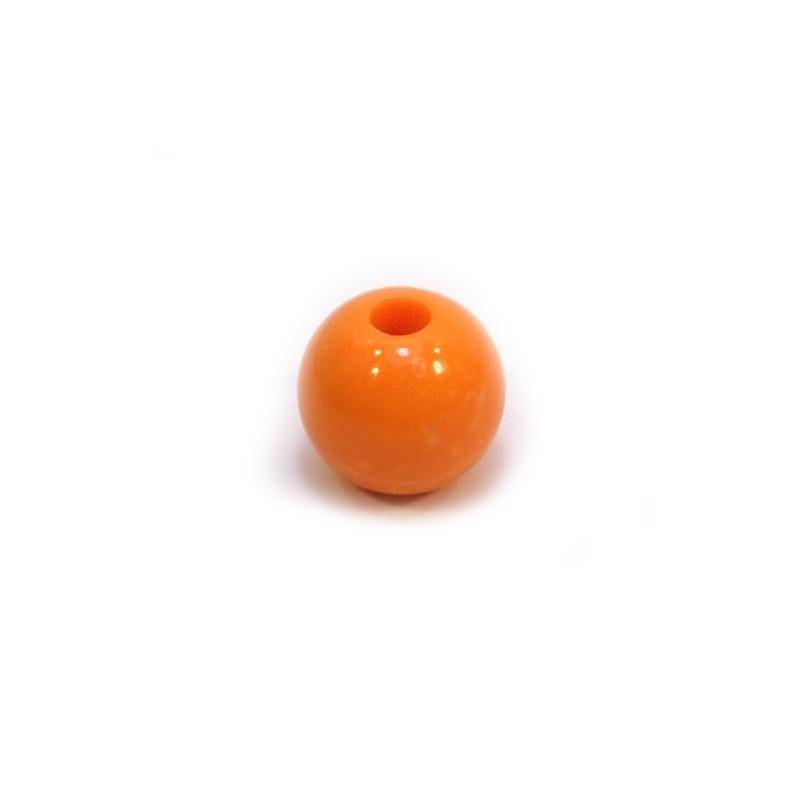 Акриловая бусина, 12мм, оранжевая