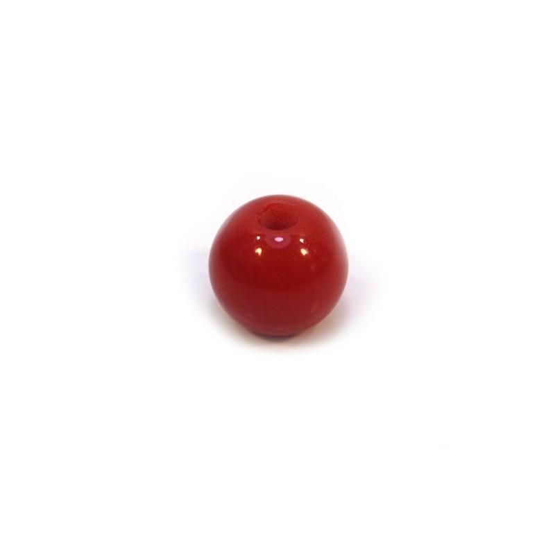 Акрилова намистина, 12мм, червона