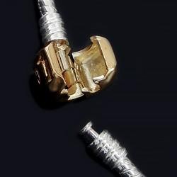 Основа для браслета Пандора, 17см, срібляста