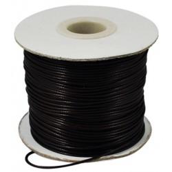 Шнур вощений штучний, чорний, 1мм, ціна за 1метр