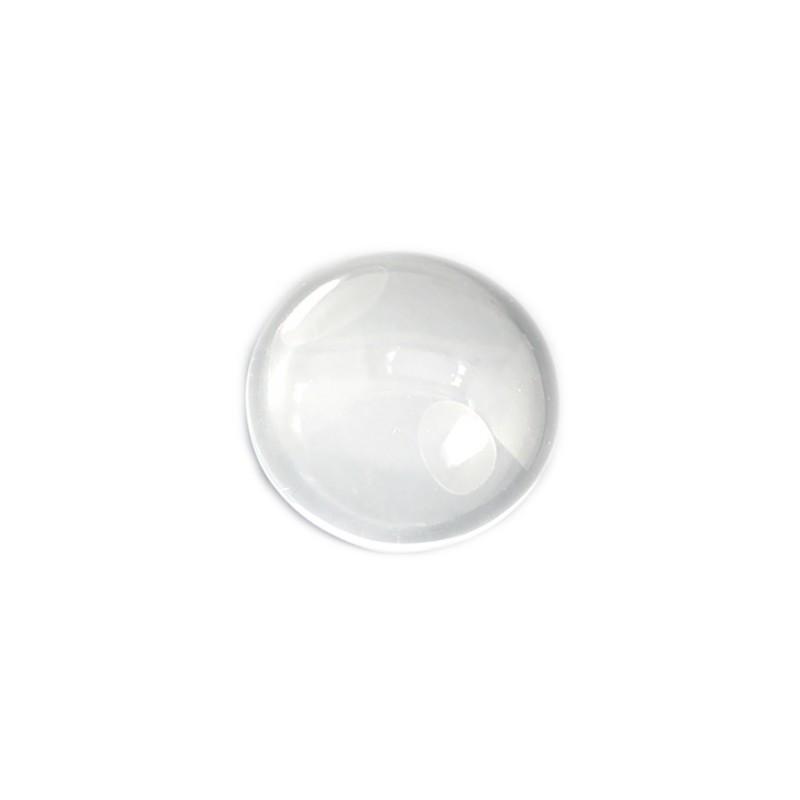 Кабошон скляний (прозора лінза), 6,5х20мм