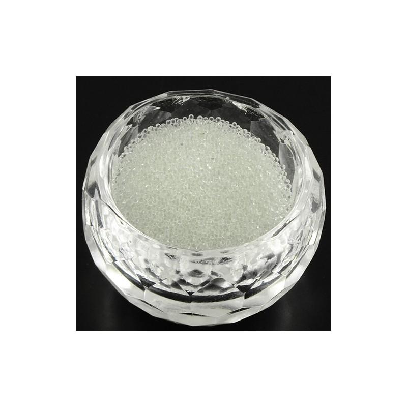 Бульонки скляні 0,6-0,8 мм, білі, прозорі