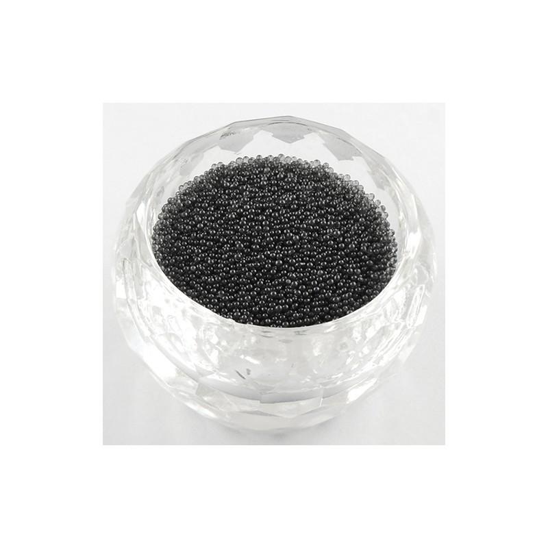 Бульонки стеклянные 0,6-0,8 мм черные прозрачные