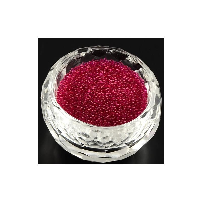Бульонки скляні 0,6-0,8 мм червоні прозорі