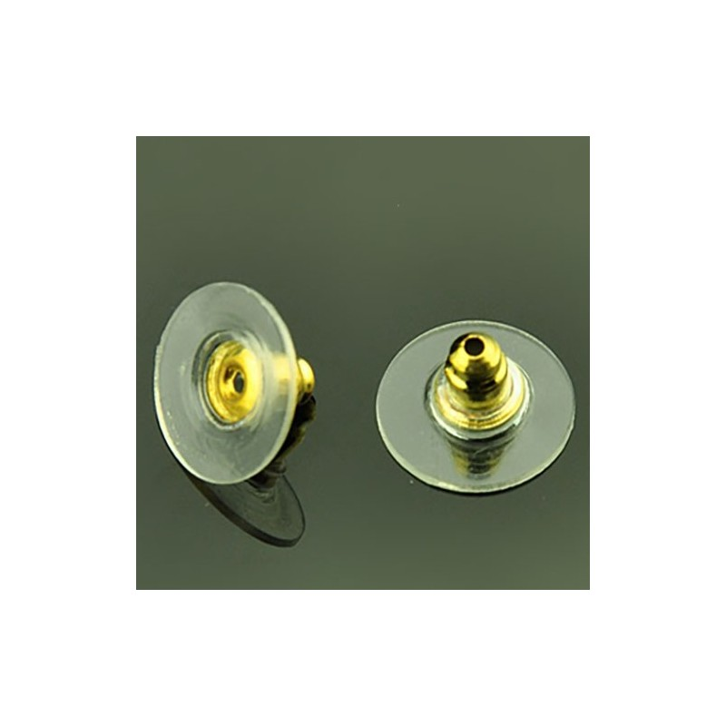 Заглушка для сережек золотистая