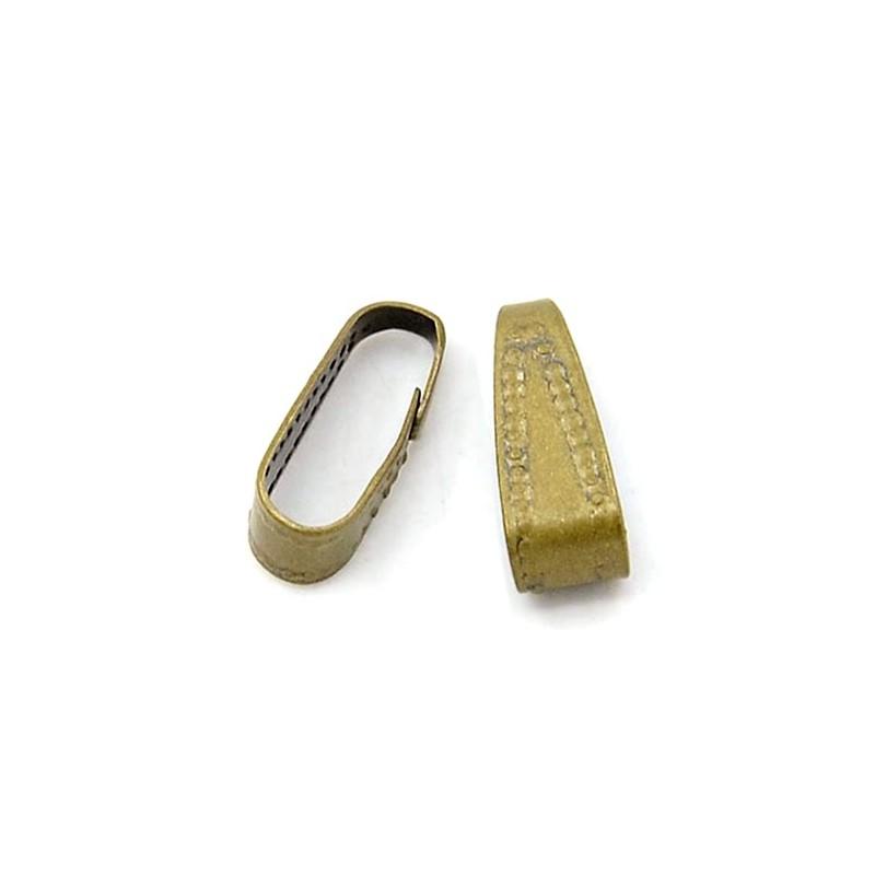 Кулонодержатель латунный 4x10мм, бронзовый