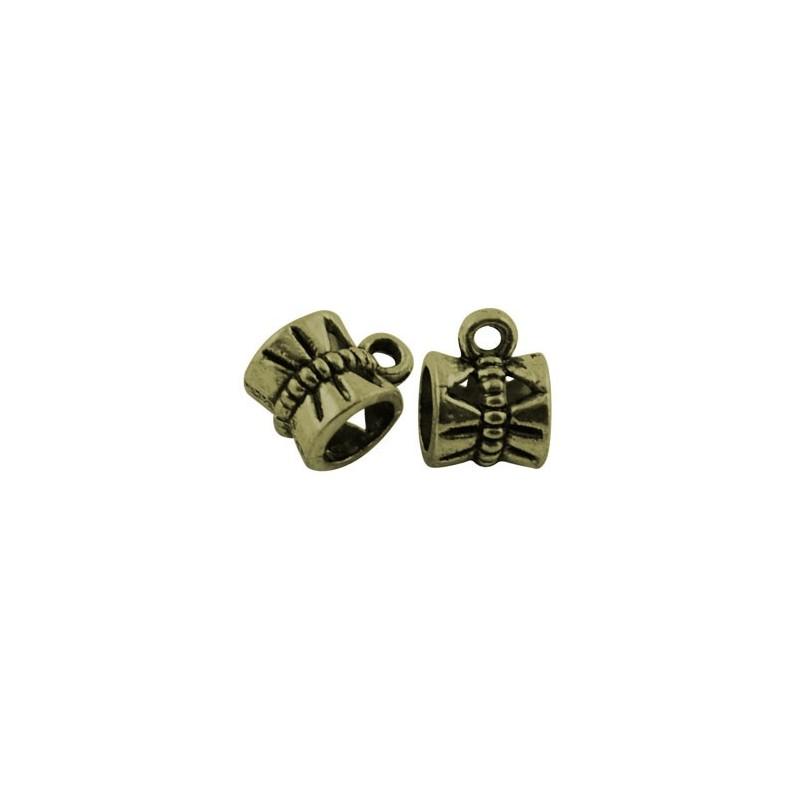 Бейл (кулонодержатель) ажурный, 7х10мм, бронзовый