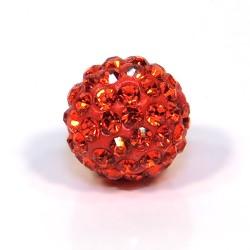 Намистини Шамбала, круглі 12мм, яскраві помаранчеві