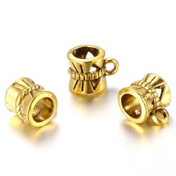 Бейл (кулонодержатель) ажурный, 7х10мм, античное золото
