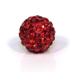 Бусины Шамбала, 12мм в диаметре, ярко-красные