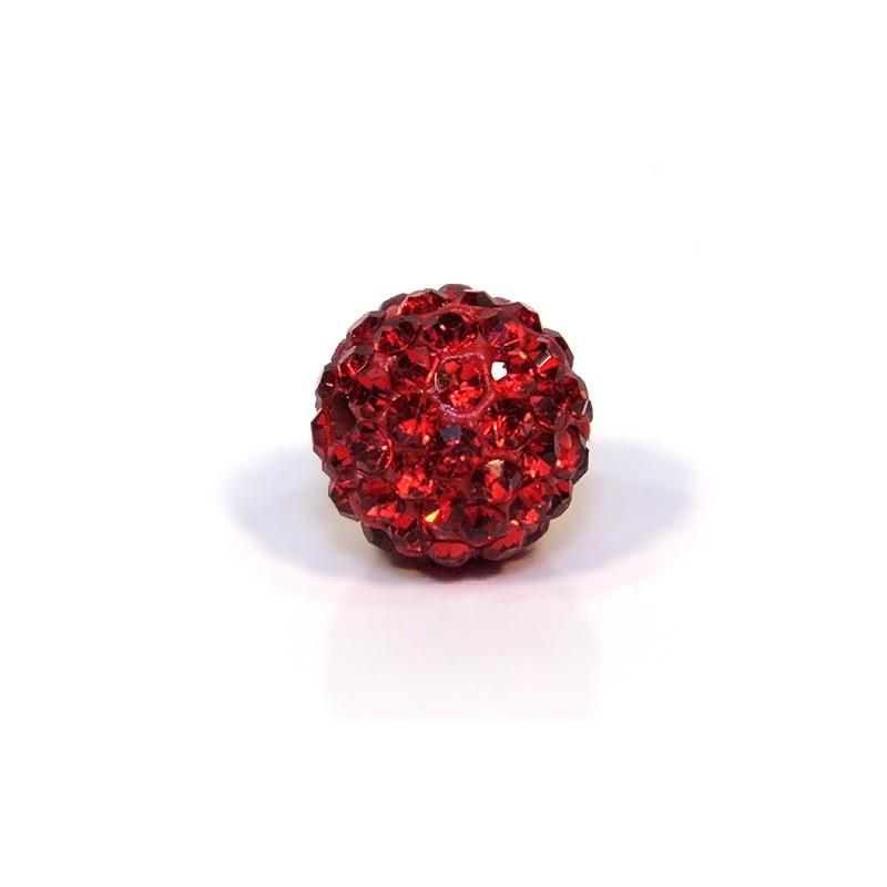 Бусины Шамбала, круглые 12мм, ярко-красные