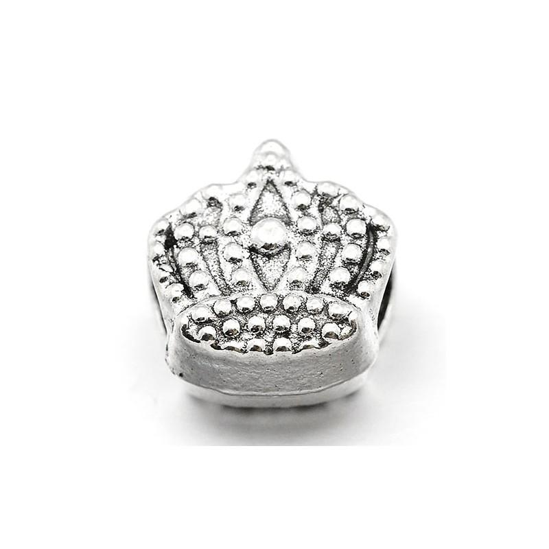 Намистина корона, 12х13мм, сталева