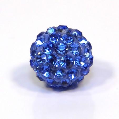 Намистини Шамбала, 12мм у діаметрі, сині