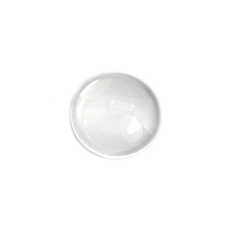 Кабошон скляний круглий 5х10мм (прозора лінза)
