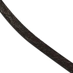 Кожаный шнур 3мм плоский темно-коричневый