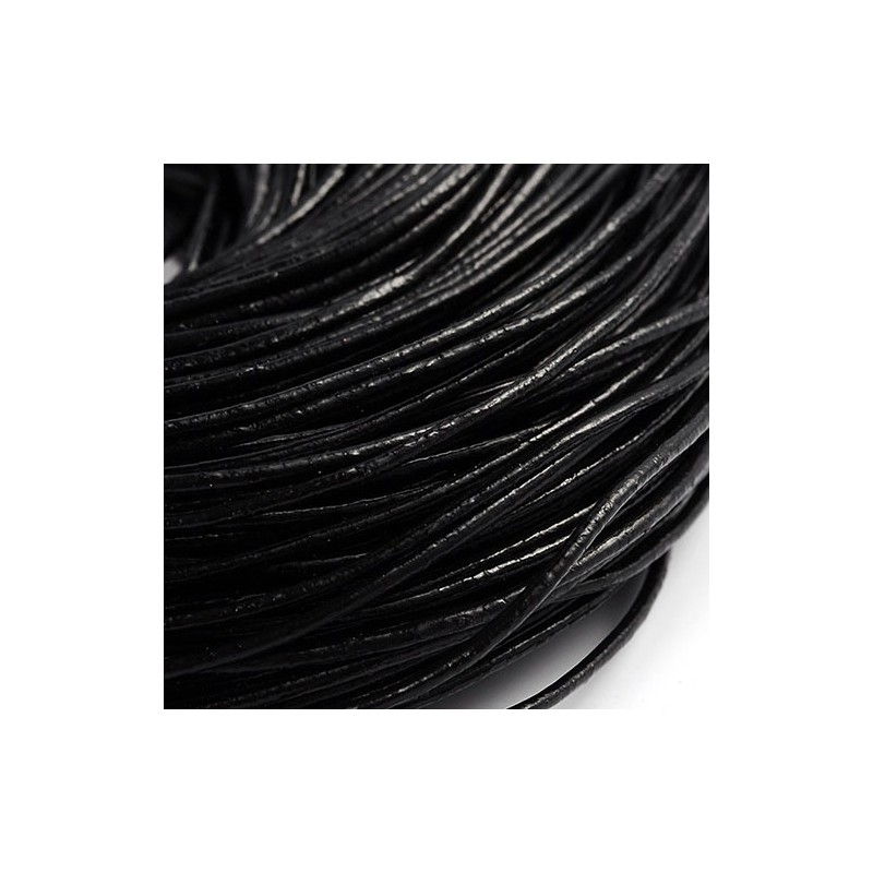 Кожаный шнур 1,5мм черный