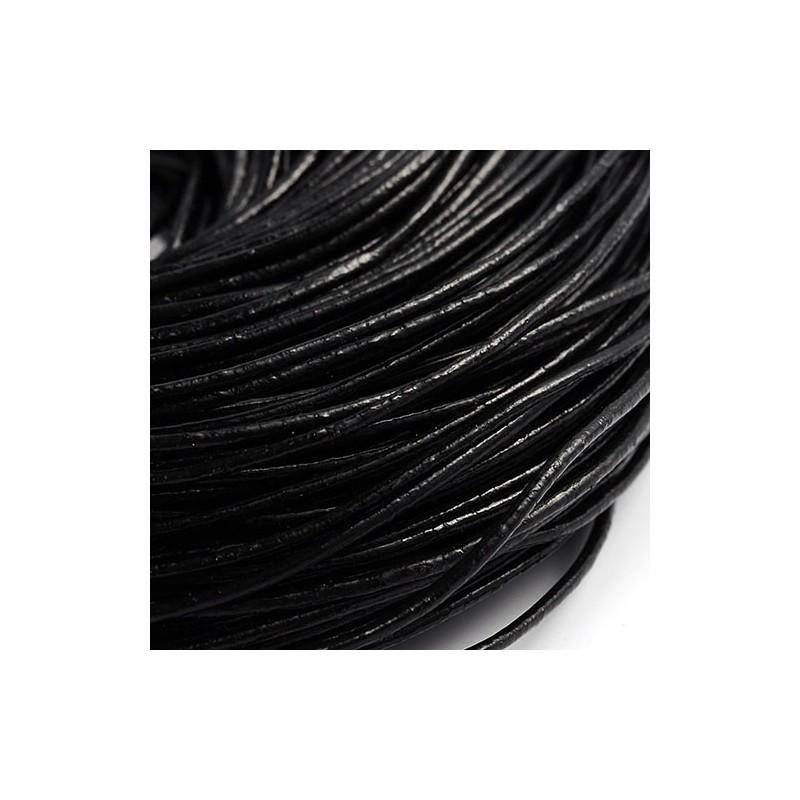 Шкіряний шнур 1,5мм чорний