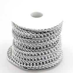 Цепочка алюминиевая, серебристая, 5х10х15мм