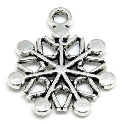 Підвіска сніжинка, 20мм, сталева