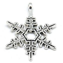 Підвіска сніжинка, 23мм, сталева