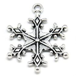 Підвіска сніжинка, 28мм, сталева