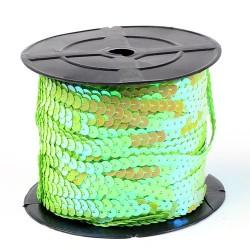 Паєтки світло-зелені АБ 6мм гладкі на нитці