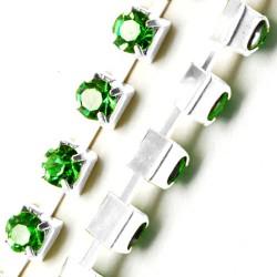 Ланцюжок з зеленими стразами 3мм
