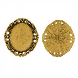 Основа для кабошона 30x40мм овальна, 45x54мм, античне золото
