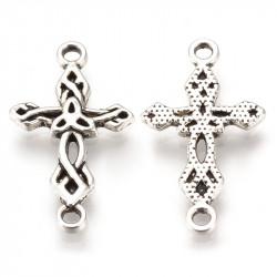 """Конектор """"Хрест з трікветром"""" 22мм, сталевий"""