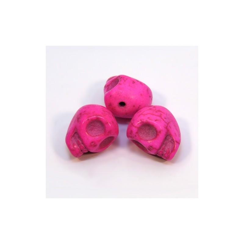 Бусины Черепа, 13мм, натуральный говлит, розовый