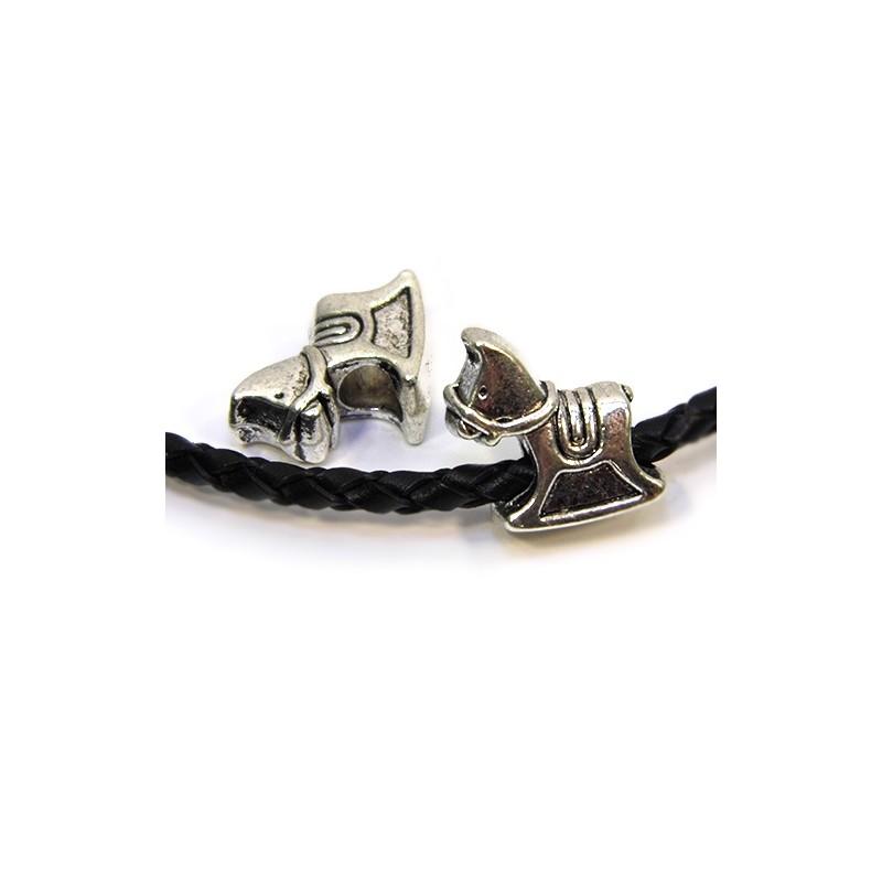 Бусины Лошадки , металлические, 13х15 мм, цвет стальной
