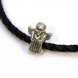 Бусины Ангелочки, металлические, 11х13 мм, цвет стальной