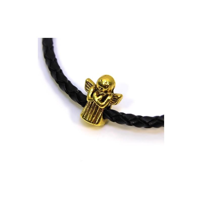 Бусины Ангелочки, металлические, 11х13 мм, цвет античное золото