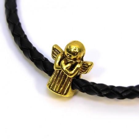 Бусина ангелочек, 11х13мм, античное золото