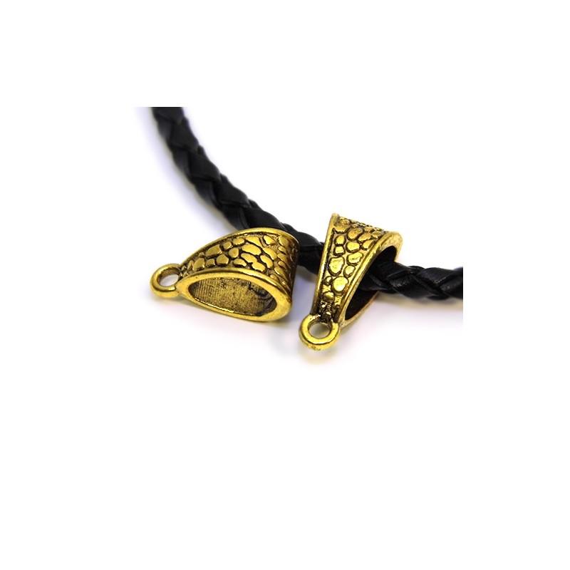 Бейл (кулонотримач), металевий, 7х14 мм, колір античне золото