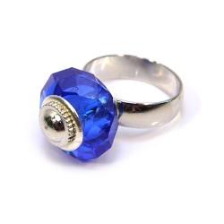 Основа для кольца Пандора, 15мм, латунь, стальной цвет