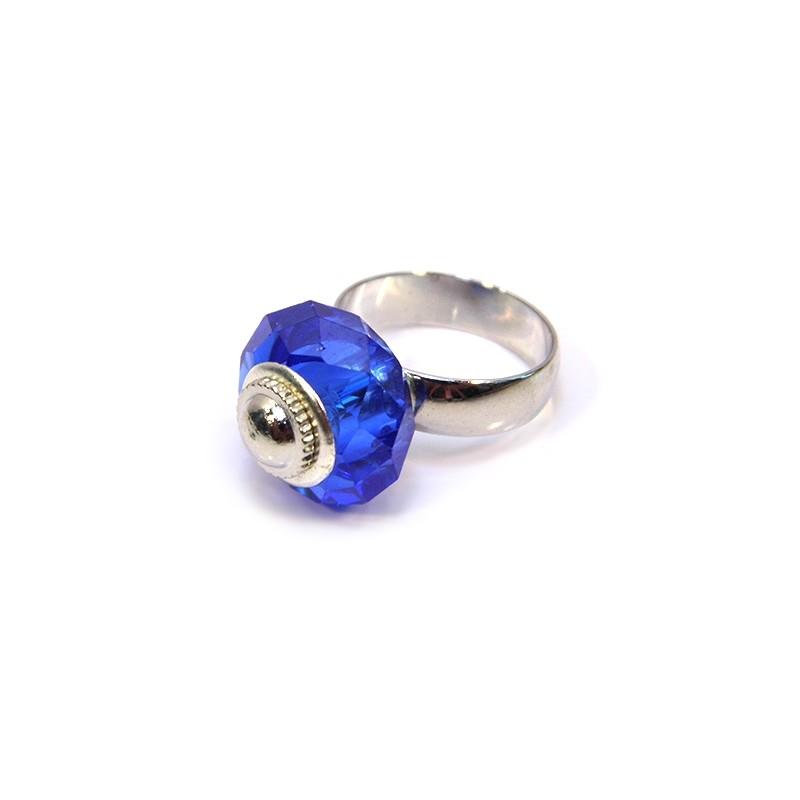 Основа для каблучки Пандора, 15мм, латунь, сталевий колір