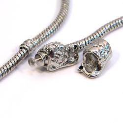 Бусины Улитки, металлические, 8х11 мм, стоперные (разделительные), цвет стальной
