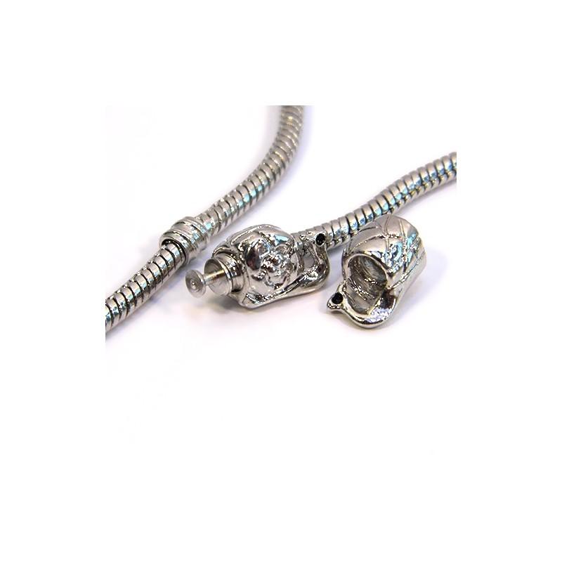 Розділювальні намистини Сови для браслетів Pandora, металеві, 8х10 мм, колір сталевий