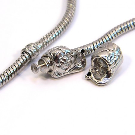 Намистини Равлики, металеві, 8х10 мм, розділювальні (стоперні), колір сталевий