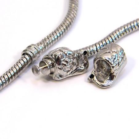 Бусина Улитка, металлическая, 8х11 мм, стоперные (разделительные), цвет стальной