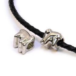 Бусины Слоны, металлические, 10х10мм, цвет стальной
