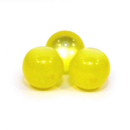 Смоляні намистини 10мм, з ефектом котячого ока, жовті