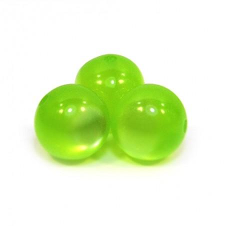 Смоляные бусины 10мм, с эффектом кошачьего глаза, зеленые