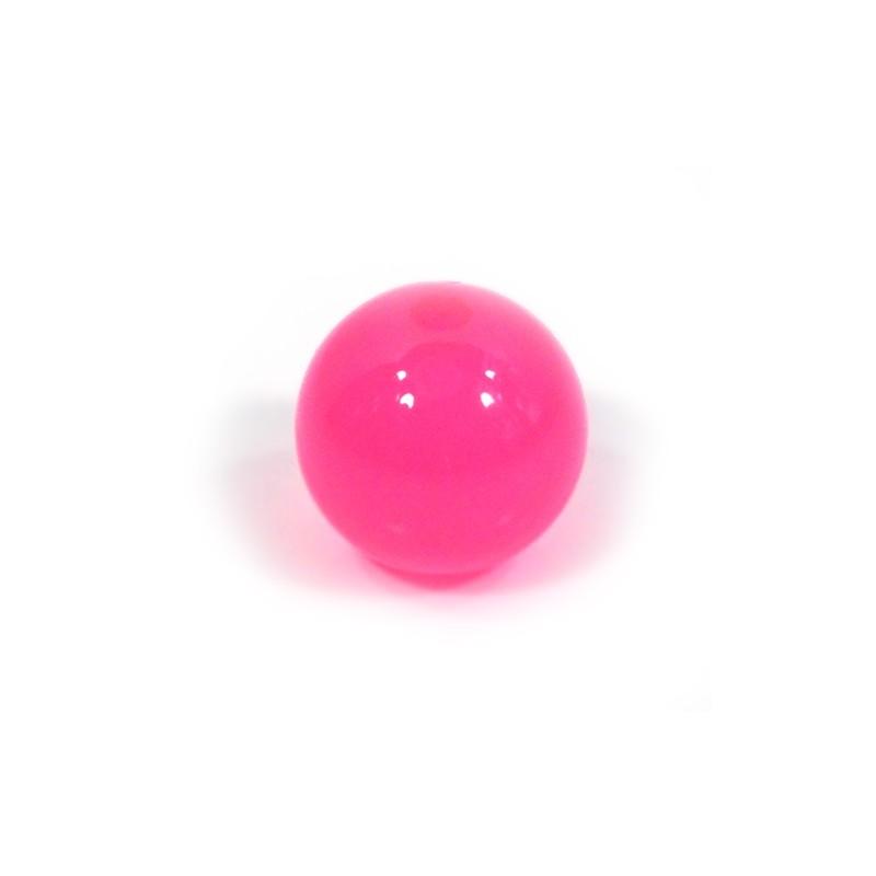 Смоляні намистини 14мм, яскраво-рожеві