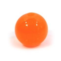 Смоляные бусины 14мм, ярко-оранжевые