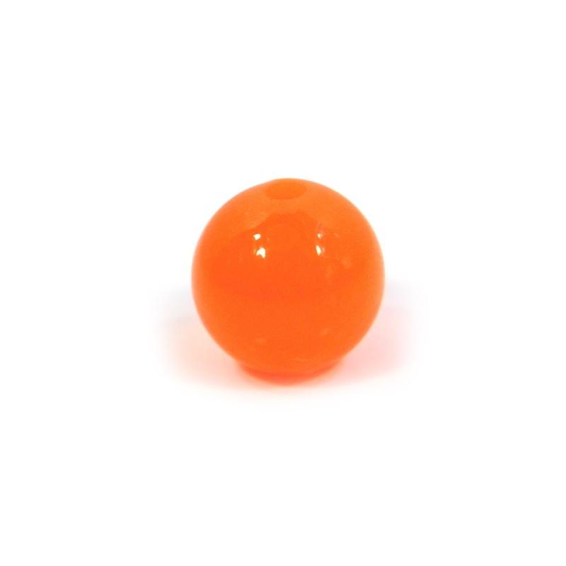 Смоляні намистини 14мм, яскраво-помаранчеві